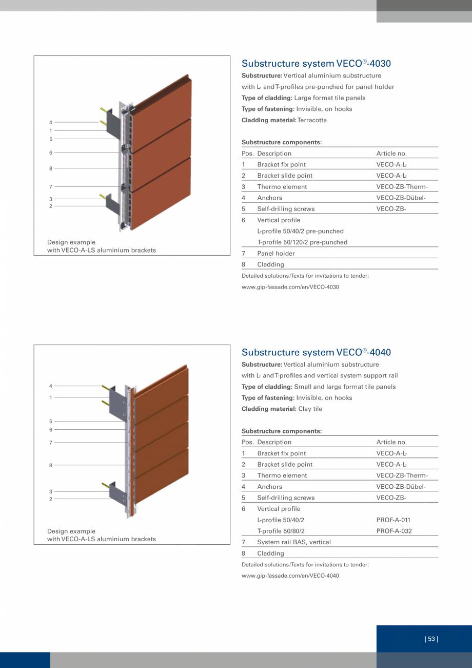 Pagina 53 - Sisteme de fixare a placarii  VECO Catalog, brosura Engleza 00 Horizontal Galvalume®...