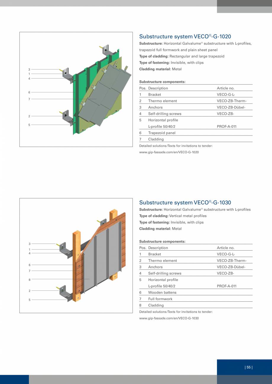 Pagina 55 - Sisteme de fixare a placarii  VECO Catalog, brosura Engleza re system VECO®-1020...