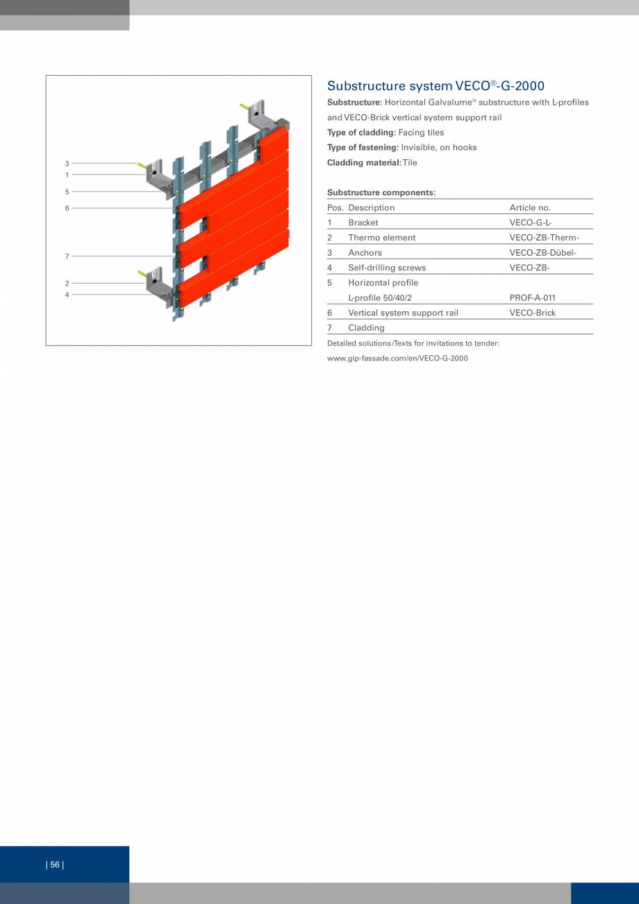 Pagina 56 - Sisteme de fixare a placarii  VECO Catalog, brosura Engleza ent, ceramic, HPL (High...