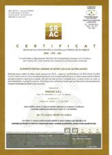 Certificat de conformitate al controlului productiei in fabrica BCA SIMCOR