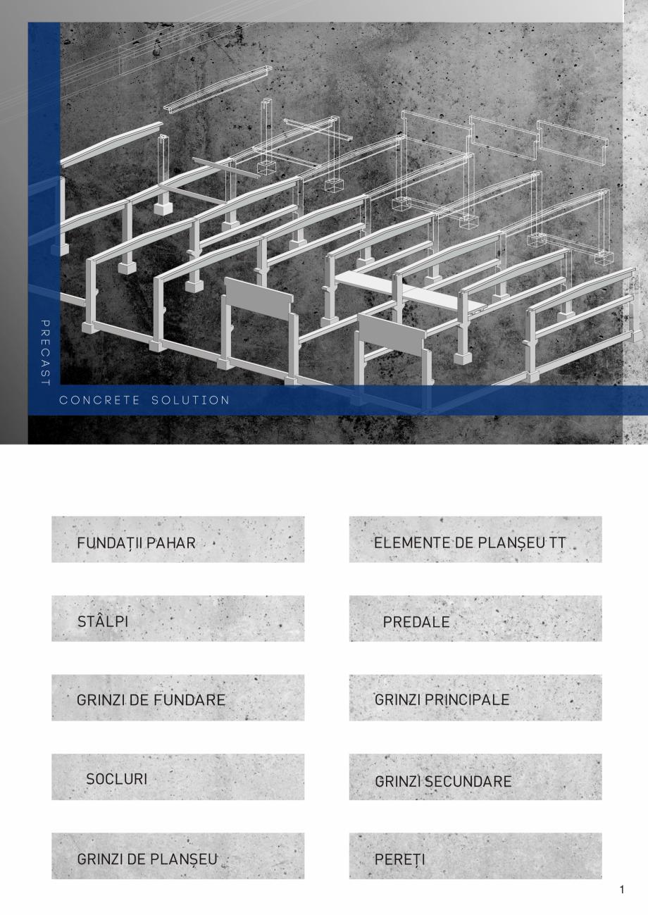 Pagina 2 - Prefabricate din beton pentru constructii civile si industriale MACON Catalog, brosura
