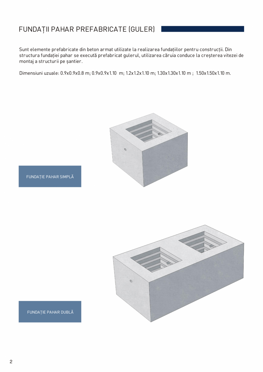 Pagina 3 - Prefabricate din beton pentru constructii civile si industriale MACON Catalog, brosura