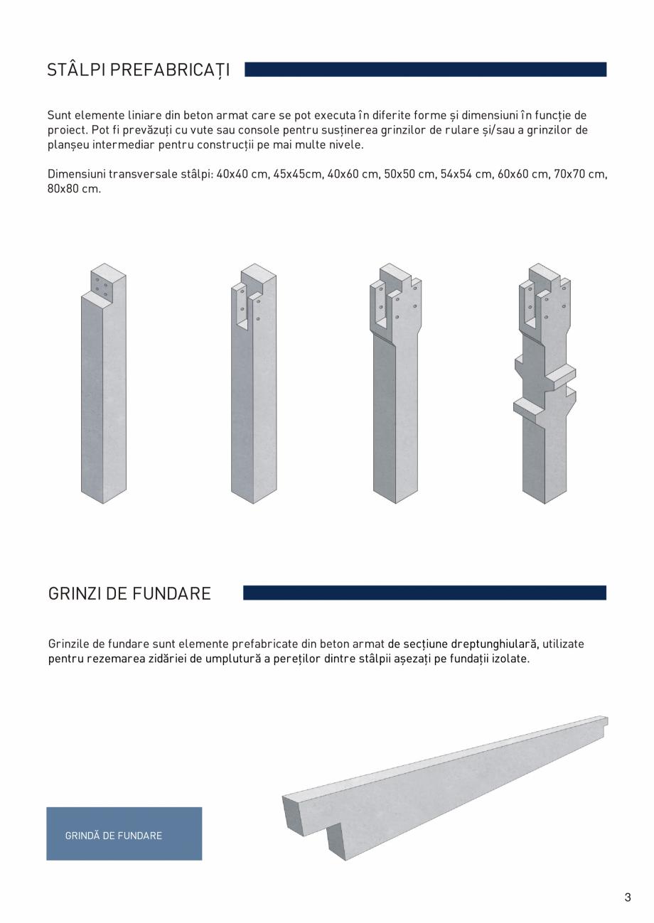 Pagina 4 - Prefabricate din beton pentru constructii civile si industriale MACON Catalog, brosura