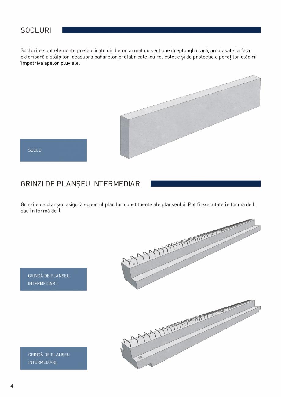 Pagina 5 - Prefabricate din beton pentru constructii civile si industriale MACON Catalog, brosura