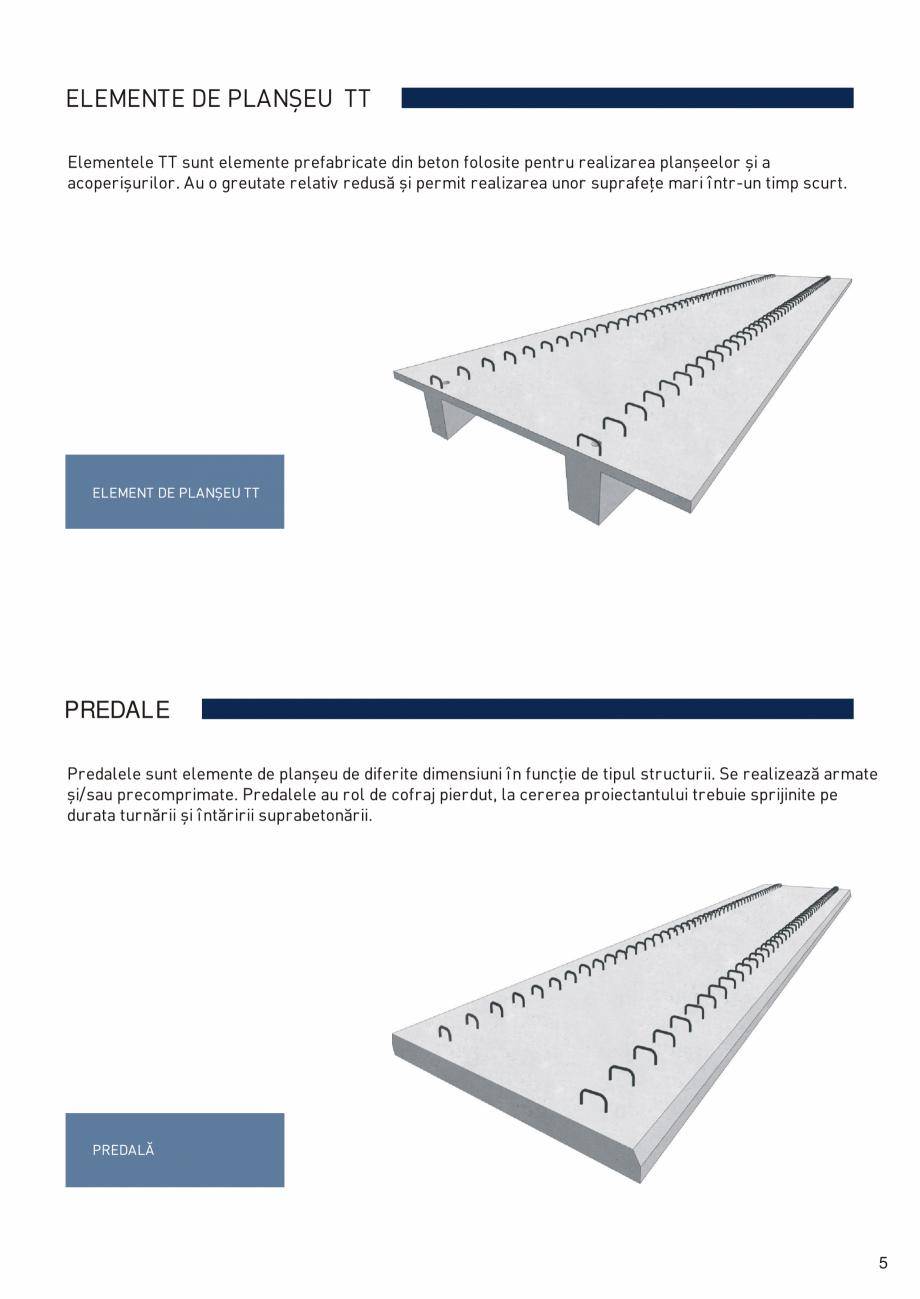 Pagina 6 - Prefabricate din beton pentru constructii civile si industriale MACON Catalog, brosura