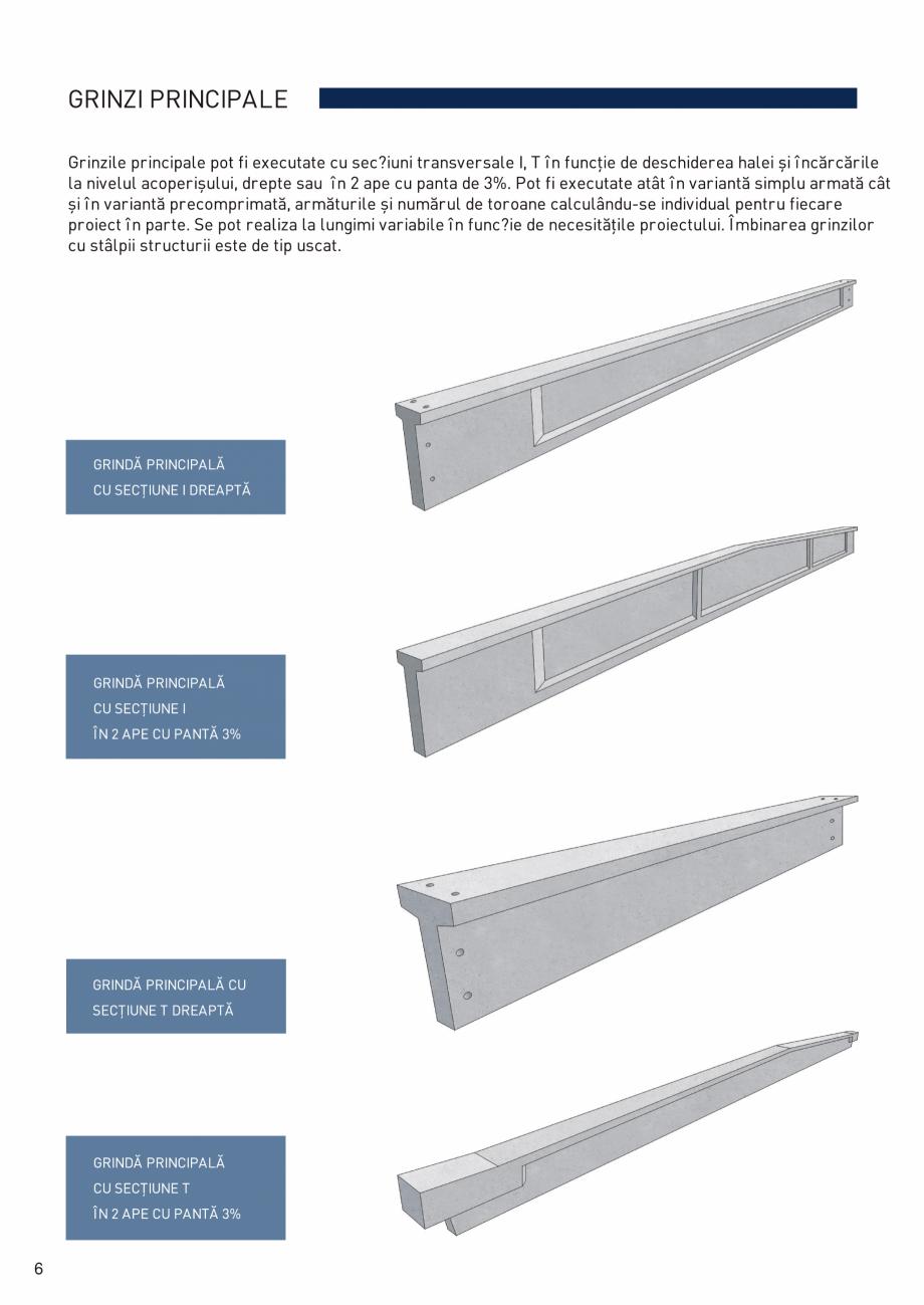 Pagina 7 - Prefabricate din beton pentru constructii civile si industriale MACON Catalog, brosura