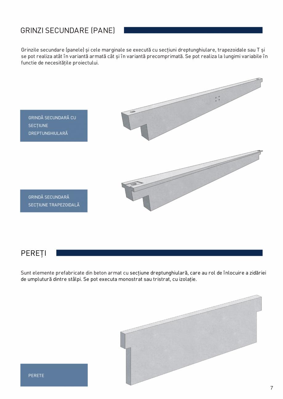 Pagina 8 - Prefabricate din beton pentru constructii civile si industriale MACON Catalog, brosura
