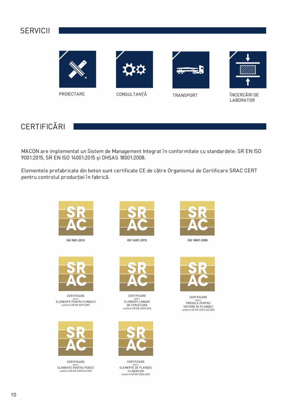 Pagina 11 - Prefabricate din beton pentru constructii civile si industriale MACON Catalog, brosura