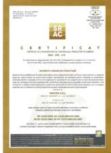 Certificare CPF - elemente liniare de structura MACON