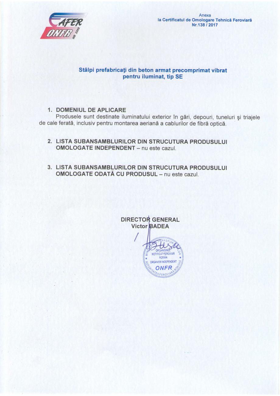 Pagina 2 - Certificat de omologare tehnica feroviara in faza finala emis de catre Autoritatea...
