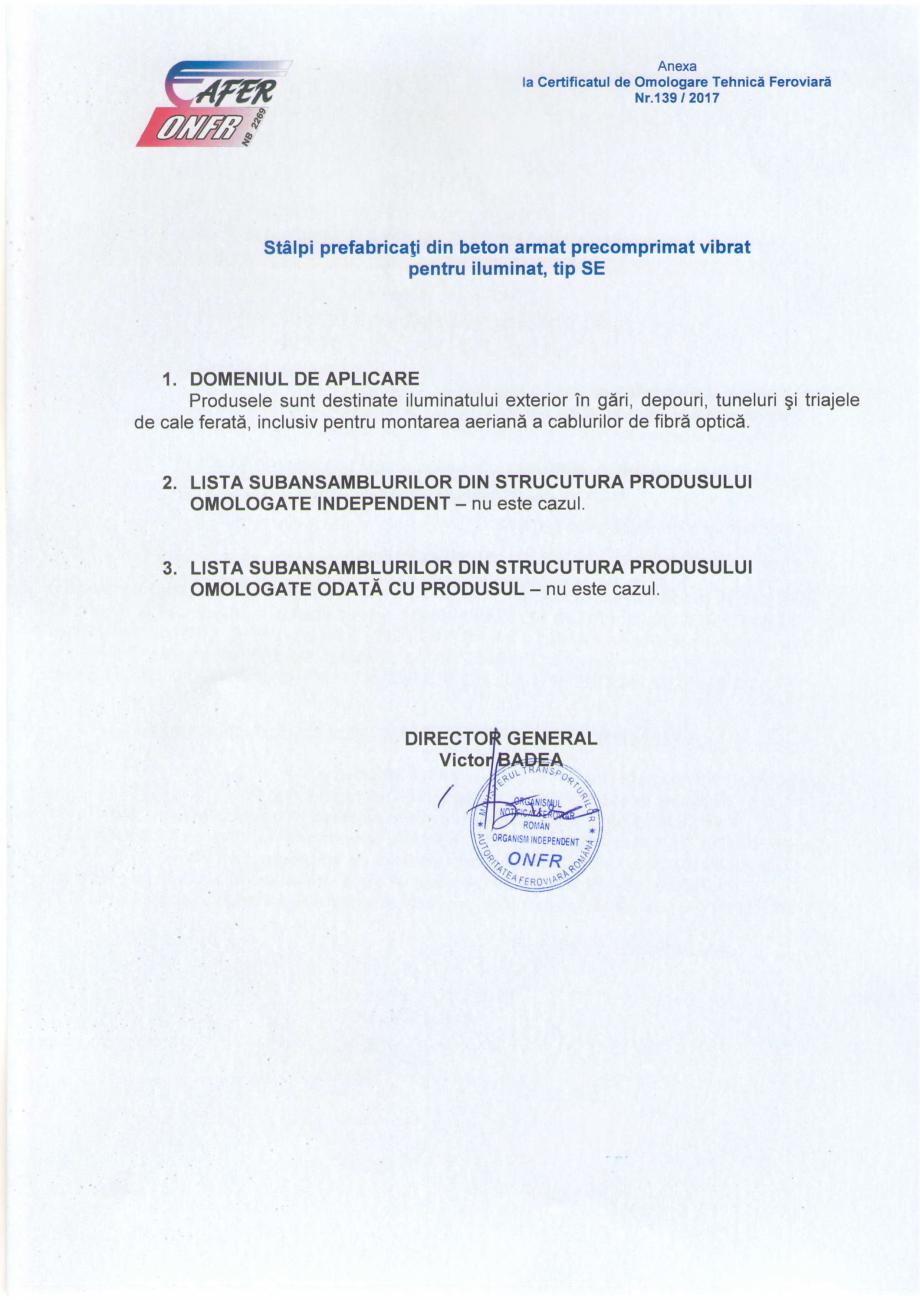 Pagina 4 - Certificat de omologare tehnica feroviara in faza finala emis de catre Autoritatea...