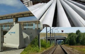 Elemente prefabricate pentru infrastructura feroviara