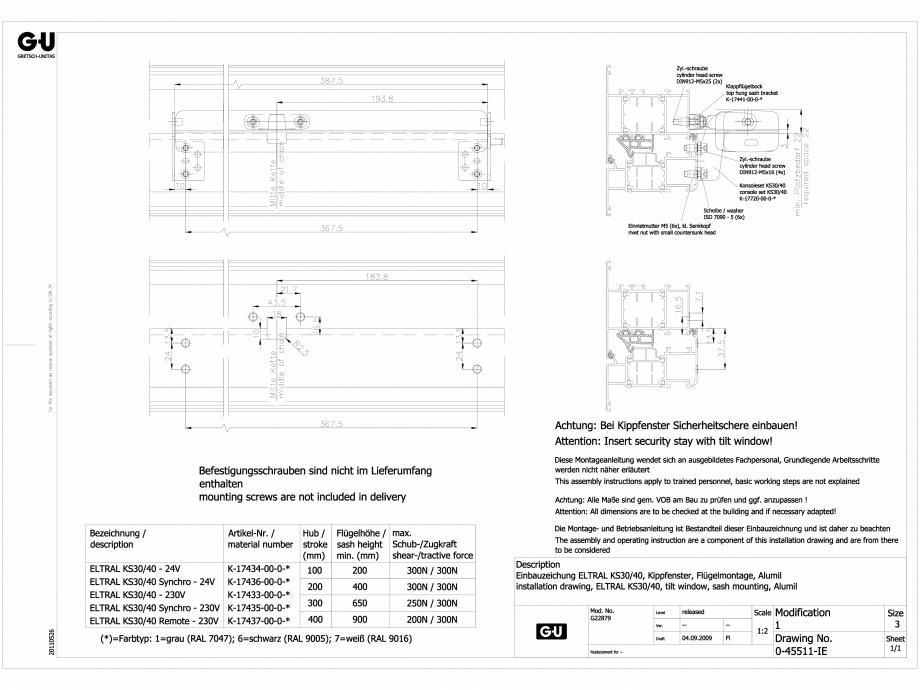 Detalii CAD Non RWA G-U BKS Sisteme evacuare fum si gaze (RWA) G-U FERROM COM  - Pagina 1