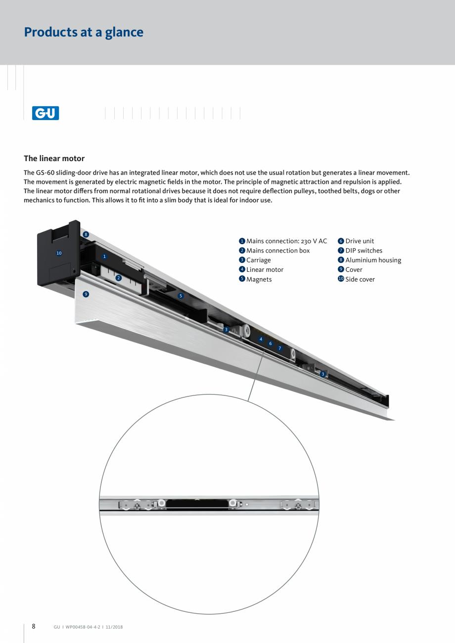 Pagina 8 - Automatizari pentru usi glisante - GS 60 GU Automatic Fisa tehnica Engleza  200 to 800...