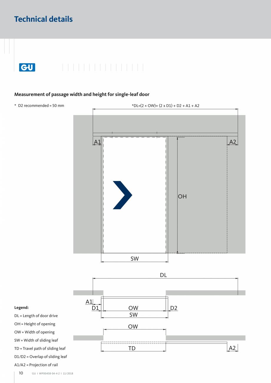 Pagina 10 - Automatizari pentru usi glisante - GS 60 GU Automatic Fisa tehnica Engleza f  OH =...