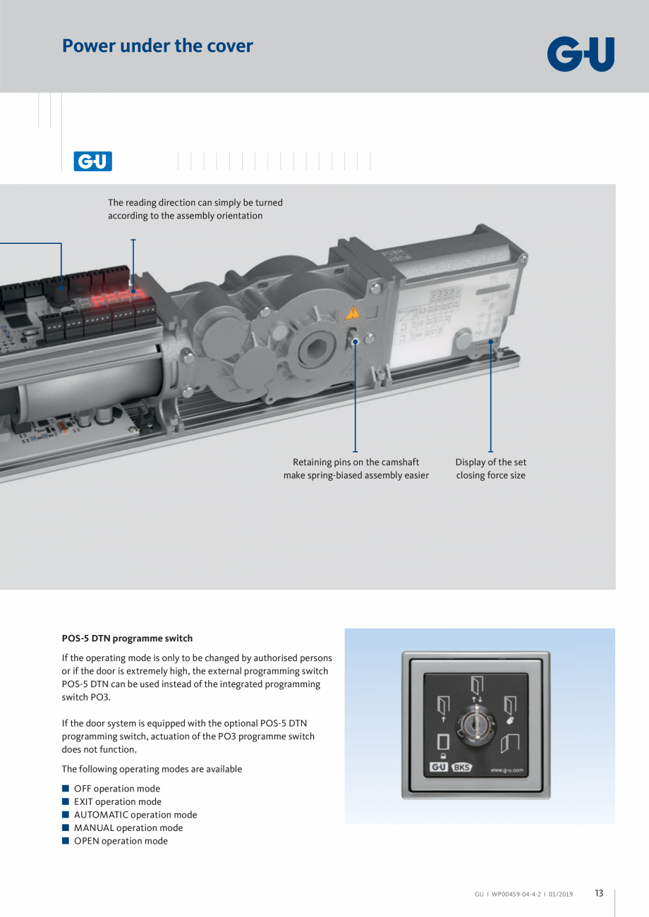 Pagina 13 - Operator pentru usa batanta - DTN 80 GU Automatic Fisa tehnica Engleza mm]  Examples for...