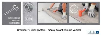 Pardoseala PVC pentru amenajari de lux / Pardoseala PVC pentru amenajari de lux Creation 70 Click System