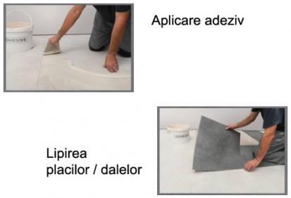 Paletar pentru pardoseala PVC - amenajari de lux / Pasii la montaj