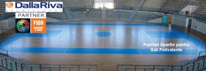 Pardoseli pentru sali de sport polivalente / Parchet sportiv pentru sali polivalente