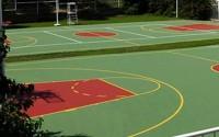 Pardoseli sportive outdoor Suprafata de joc, formata din strat de absorbtia socului din cauciuc si 4 straturi succesive, acrilice. Recomandata pentru orice tip de sport: baschet, handbal, volei, fotbal sau tennis.