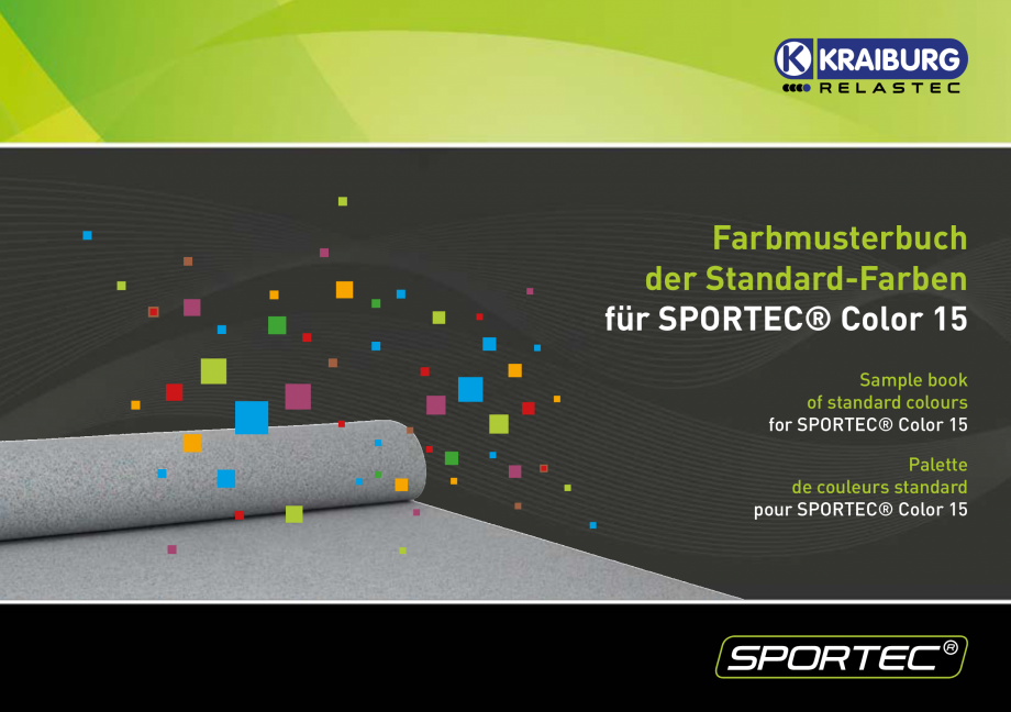 Pagina 1 - Pardoseli din cauciuc - palertar culori Sportec Sportec Color 15 Fisa tehnica Engleza...