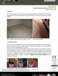Recomandari de instalare pentru pardoseli din cauciuc