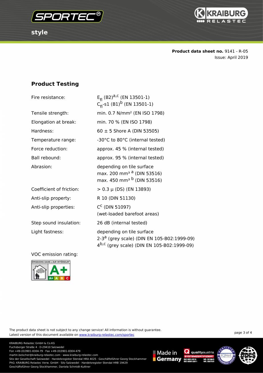 Pagina 3 - Dale din cauciuc pentru protectia la impactul greutatilor Sportec Sportec Style Fisa...