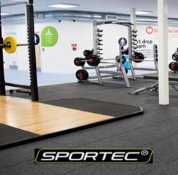 Pardoseli din cauciuc pentru sali de fitness Sportec