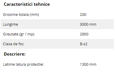 Schiță dimensiuni Profil de protectie din PVC pentru pereti - SPM Panou Decowood