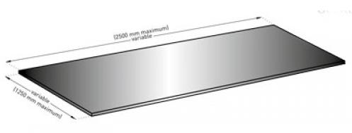 Schiță dimensiuni Profil de protectie din inox pentru pereti  - SPM Panou Plac Inox