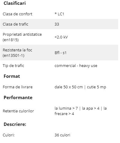 Schiță dimensiuni Mocheta dale 50 x 50 cm - Step | Modulyss 06