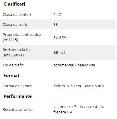 Schiță dimensiuni Mocheta dale 50 x 50 cm - First Radiant | Modulyss 10