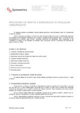 Procedura de montaj pavele si borduri SYMMETRICA
