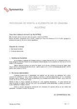 Procedura de montaj a elementelor de gradina SYMMETRICA