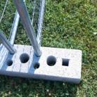 Suport gard mobil din beton - Garduri mobile pentru imprejmuiri de santier BULLONI