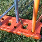 Suport gard mobil din pvc - Garduri mobile pentru imprejmuiri de santier BULLONI