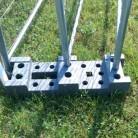 Suport gard mobil din beton reciclat - Garduri mobile pentru imprejmuiri de santier HERAS