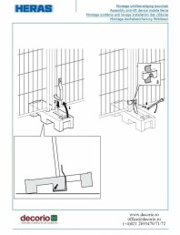 Montaj gard mobil in soclu cu sistemul anti ridicare