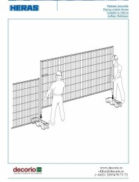 Montajul gardului mobil in soclu