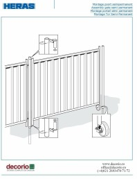 Montaj poarta mobila din gard mobil