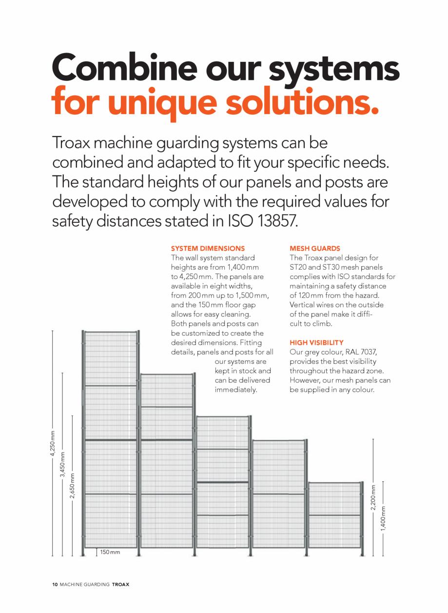 Pagina 10 - Catalog - Garduri pentru spatii de protectie a robotilor sau a utilajelor TROAX Catalog,...