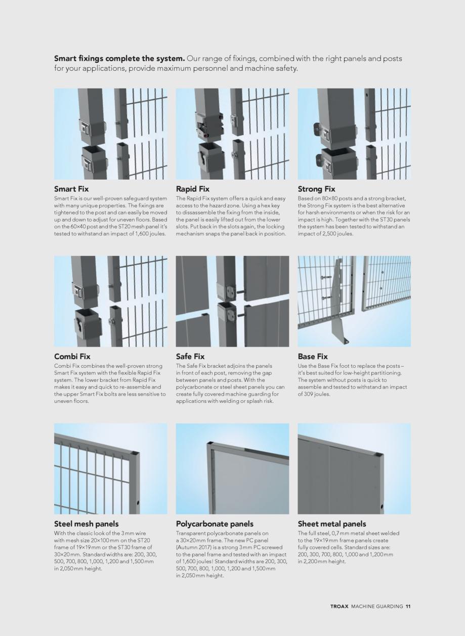 Pagina 11 - Catalog - Garduri pentru spatii de protectie a robotilor sau a utilajelor TROAX Catalog,...