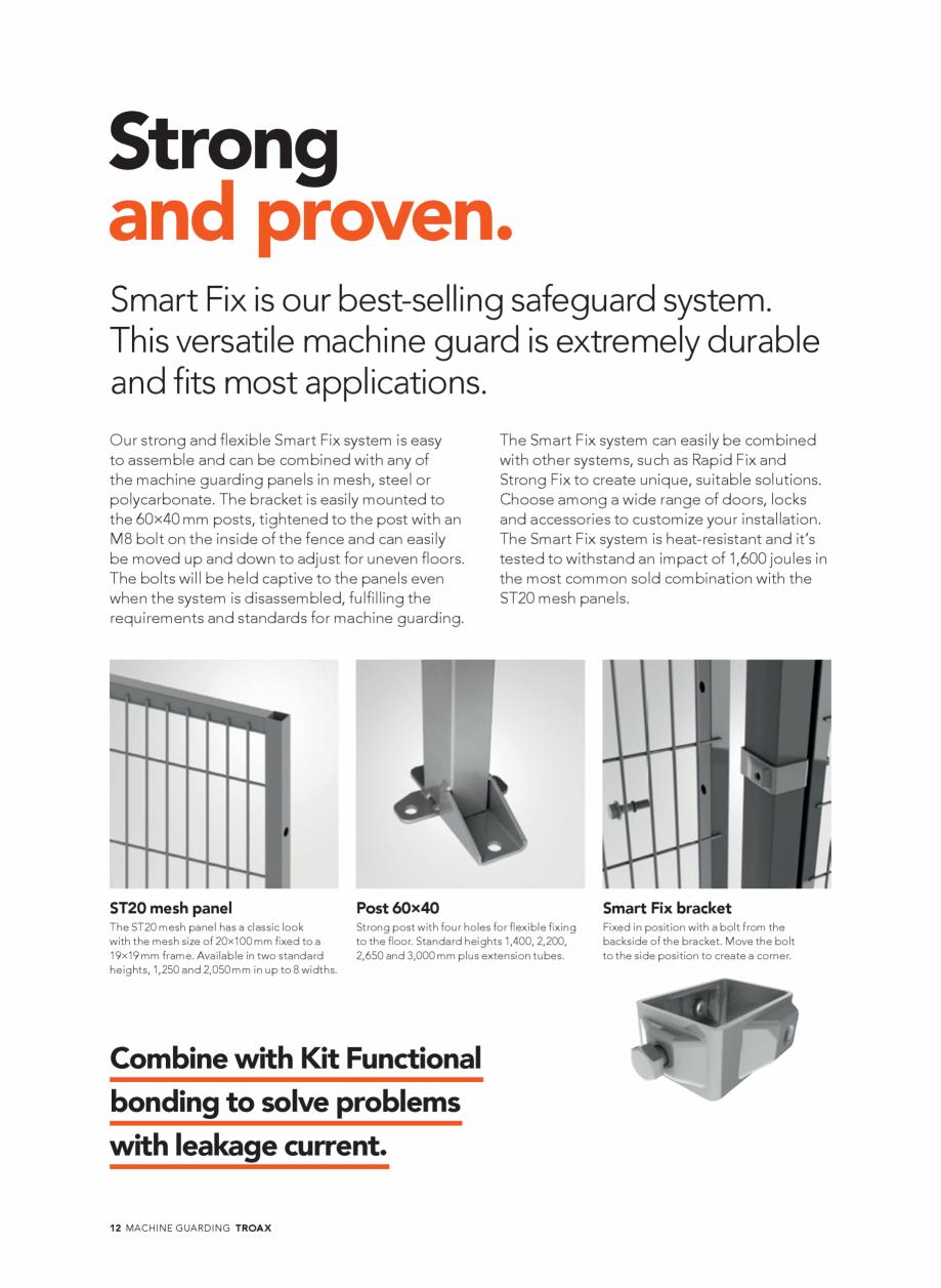 Pagina 12 - Catalog - Garduri pentru spatii de protectie a robotilor sau a utilajelor TROAX Catalog,...