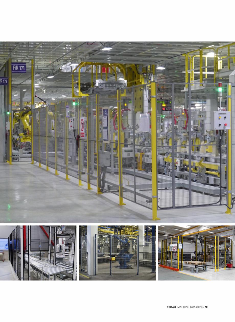 Pagina 13 - Catalog - Garduri pentru spatii de protectie a robotilor sau a utilajelor TROAX Catalog,...