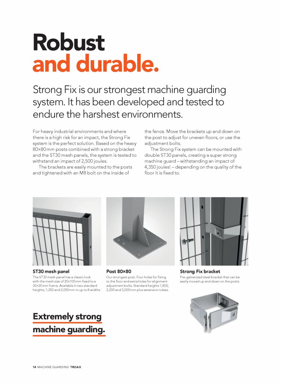 Pagina 14 - Catalog - Garduri pentru spatii de protectie a robotilor sau a utilajelor TROAX Catalog,...