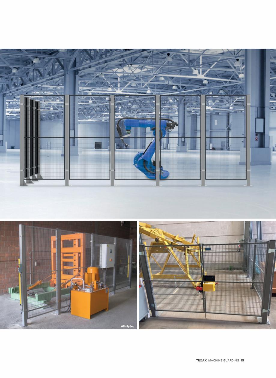 Pagina 15 - Catalog - Garduri pentru spatii de protectie a robotilor sau a utilajelor TROAX Catalog,...