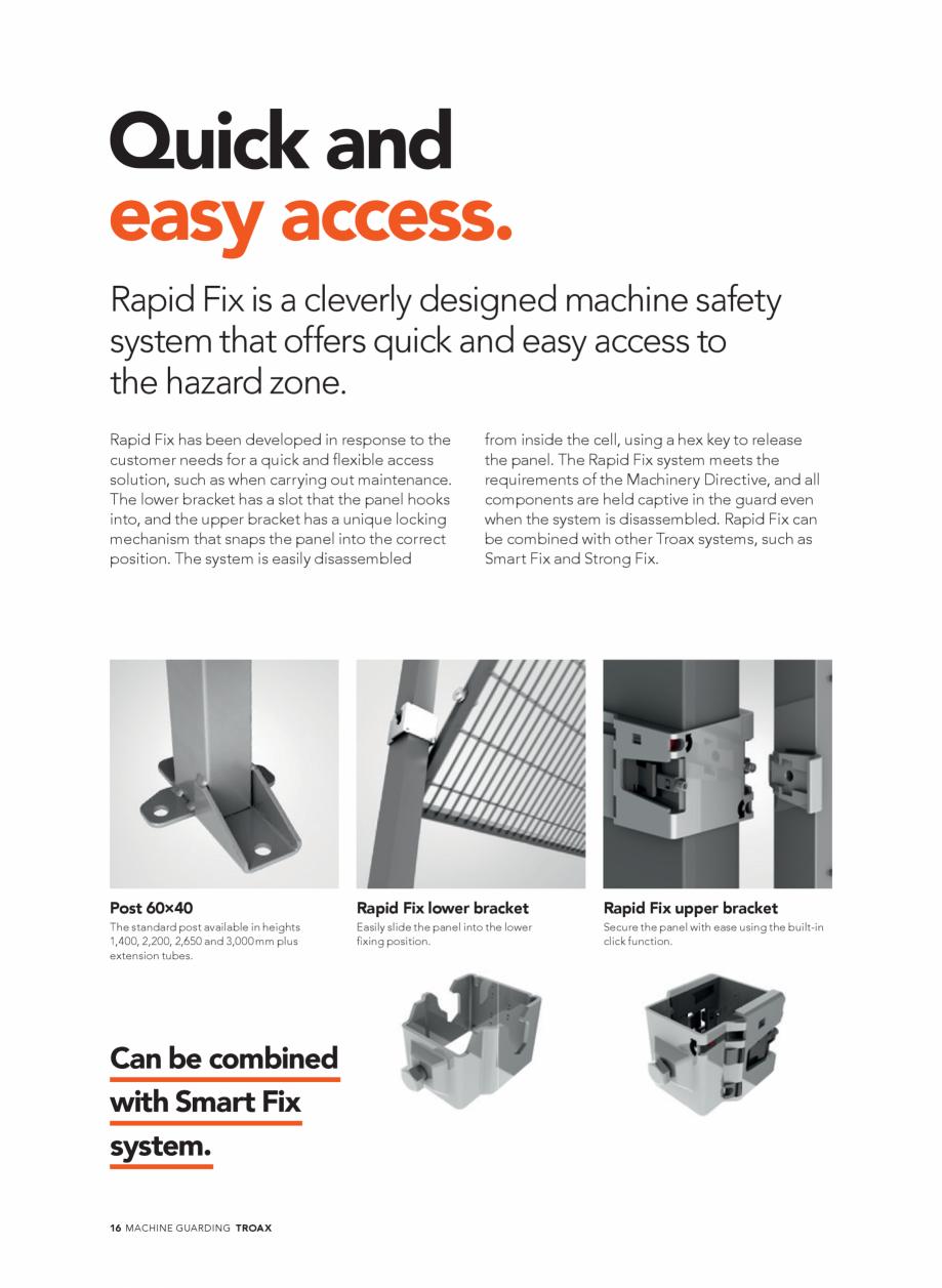 Pagina 16 - Catalog - Garduri pentru spatii de protectie a robotilor sau a utilajelor TROAX Catalog,...
