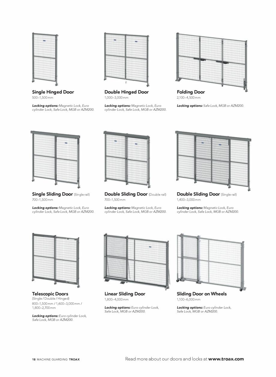 Pagina 18 - Catalog - Garduri pentru spatii de protectie a robotilor sau a utilajelor TROAX Catalog,...