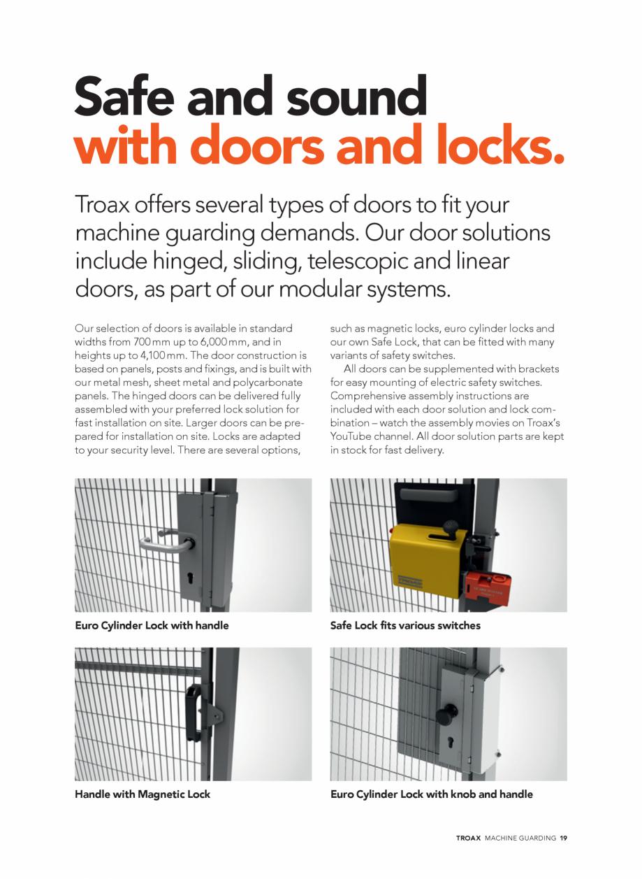 Pagina 19 - Catalog - Garduri pentru spatii de protectie a robotilor sau a utilajelor TROAX Catalog,...