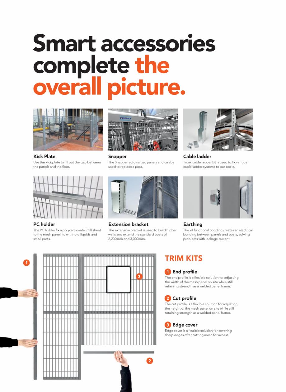 Pagina 22 - Catalog - Garduri pentru spatii de protectie a robotilor sau a utilajelor TROAX Catalog,...